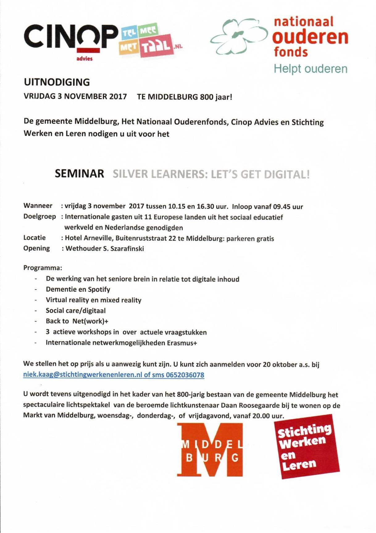 Uitnodiging Seminar Silver Learners